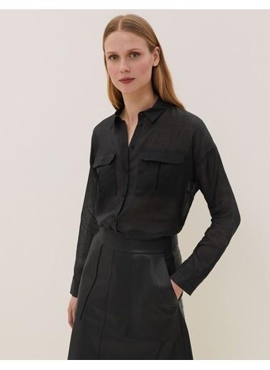 Marks & Spencer Uzun Kollu Gömlek Siyah